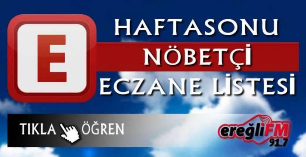 HAFTA SONU NÖBETÇİ ECZANE