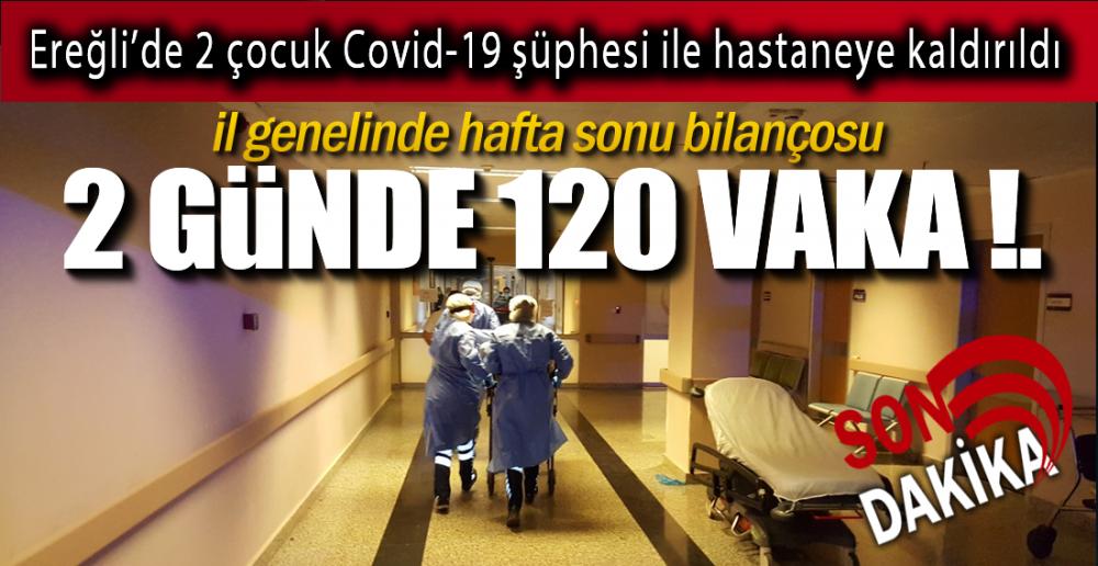 HAFTA SONUNDA 120 VAKA !.