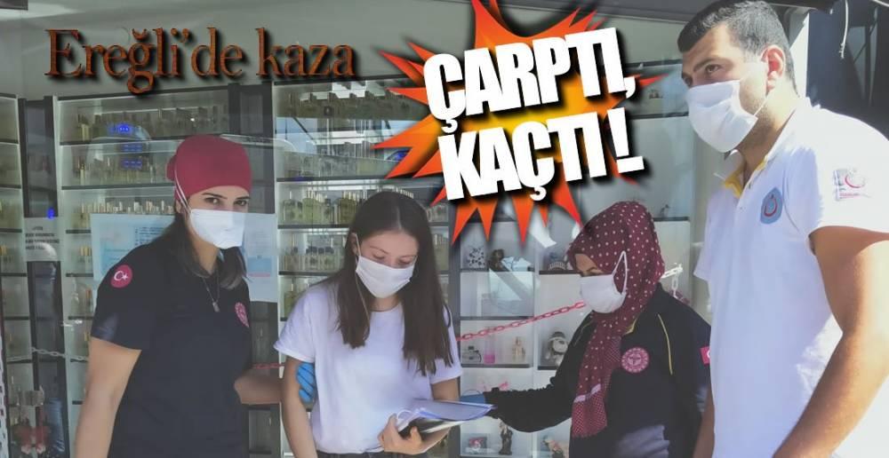 İLÇE MERKEZİNDE KAZA !.