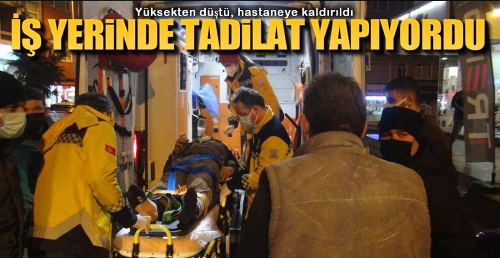 İŞ YERİNDE YARALANDI !.