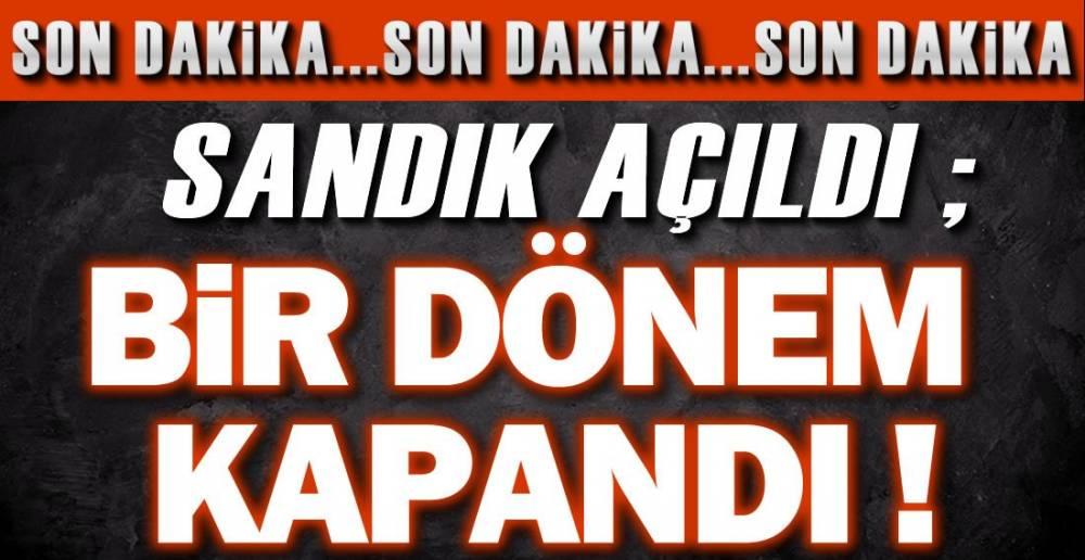 İŞTE SANDIK SONUCU !.