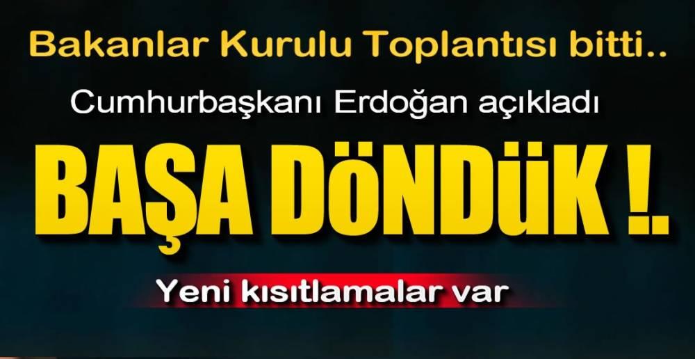 YASAKLAR GERİ GELDİ !.