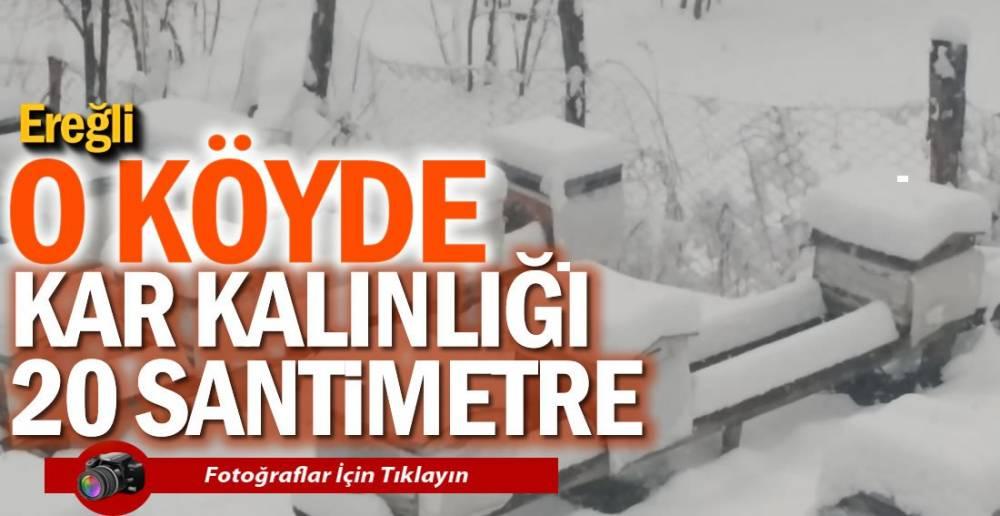 KAR KALINLIĞI 20 SANTİMETRE!.