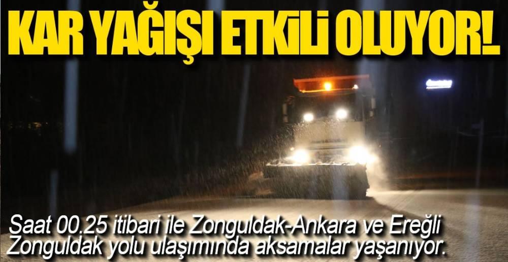 KAR YAĞIŞI İLE MÜCADELE BAŞLADI!.