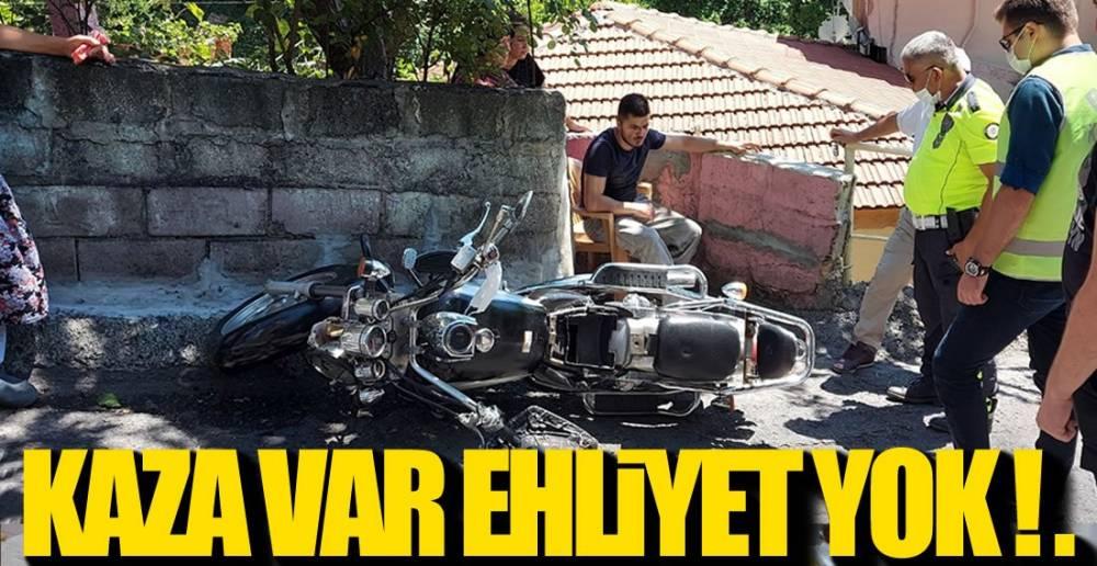 KAZA YAPTI, EHLİYETSİZ ÇIKTI !.