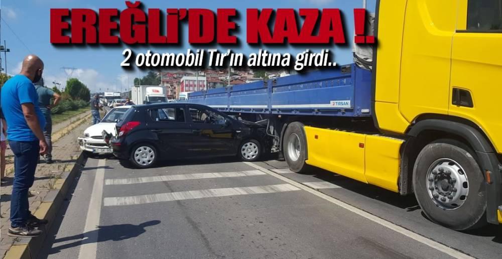 EREĞLİ'DE 2 KAZA !.