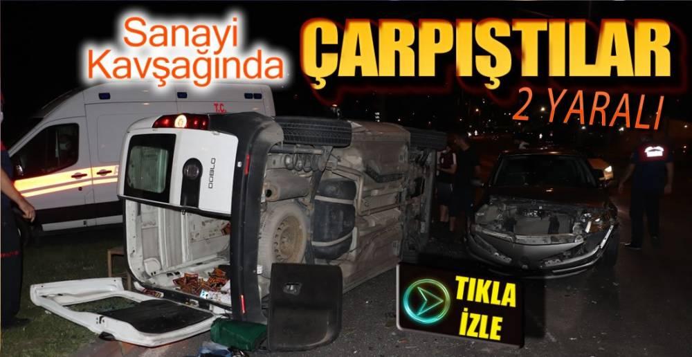 SANAYİ KAVŞAĞINDA KAZA !.