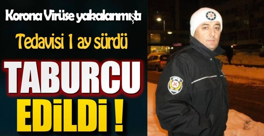 POLİS MEMURU KORONAYI  YENDİ !.