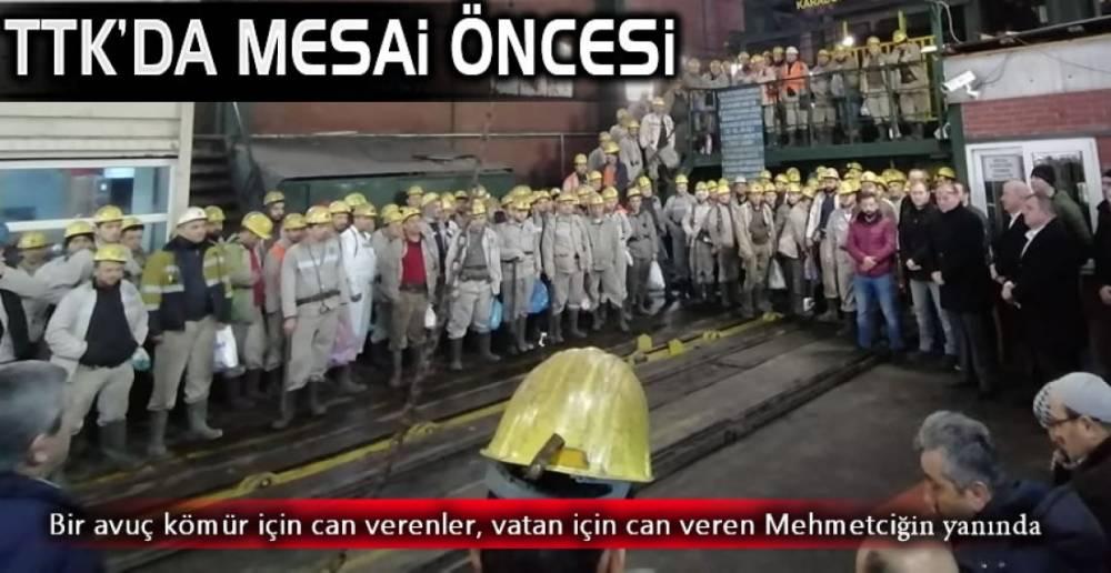 MADEN OCAĞINDA MESAİ BÖYLE BAŞLADI!.