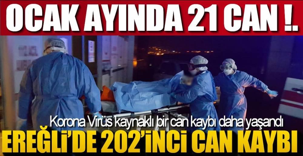 OCAK AYINDA 21 CAN KAYBI