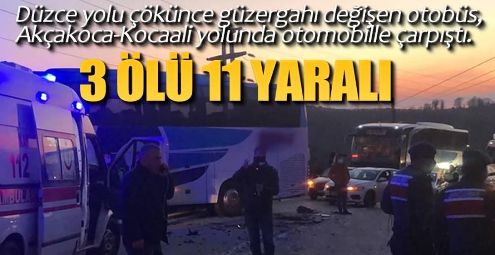 OTOBÜS İLE OTOMOBİL ÇARPIŞTI !.