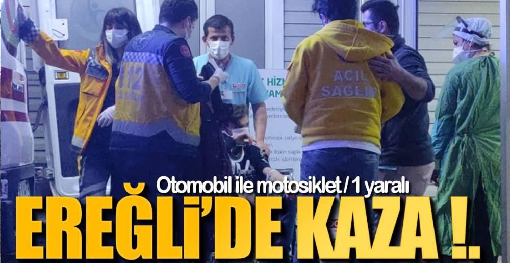 OTOMOBİL İLE MOTOSİKLET ÇARPIŞTI !.