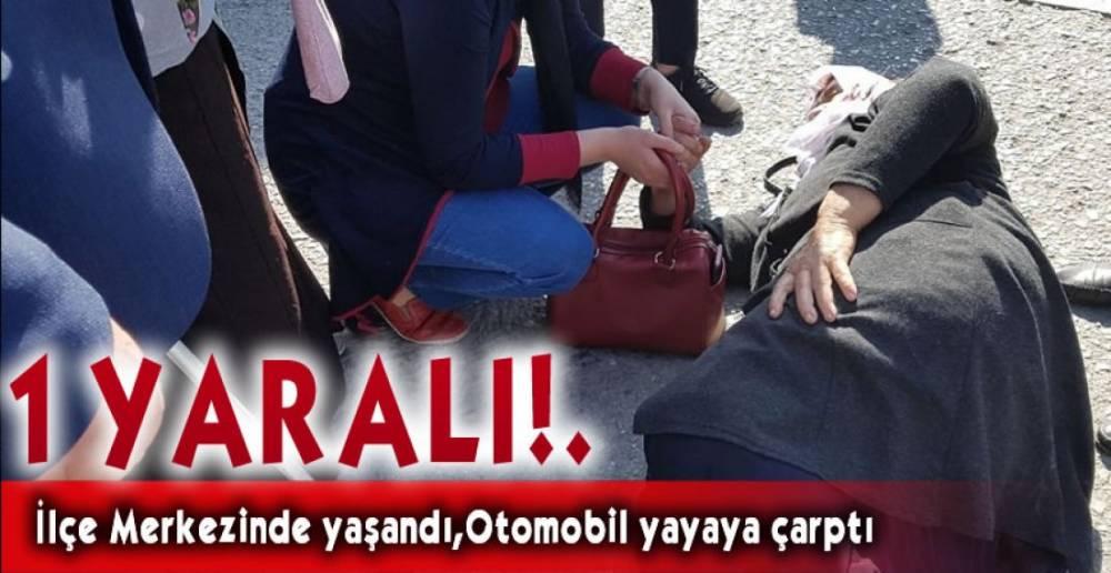 OTOMOBİL YAYAYA ÇARPTI !.