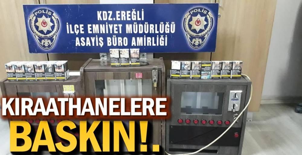 OYUN MAKİNELERİNE EL KONULDU !.