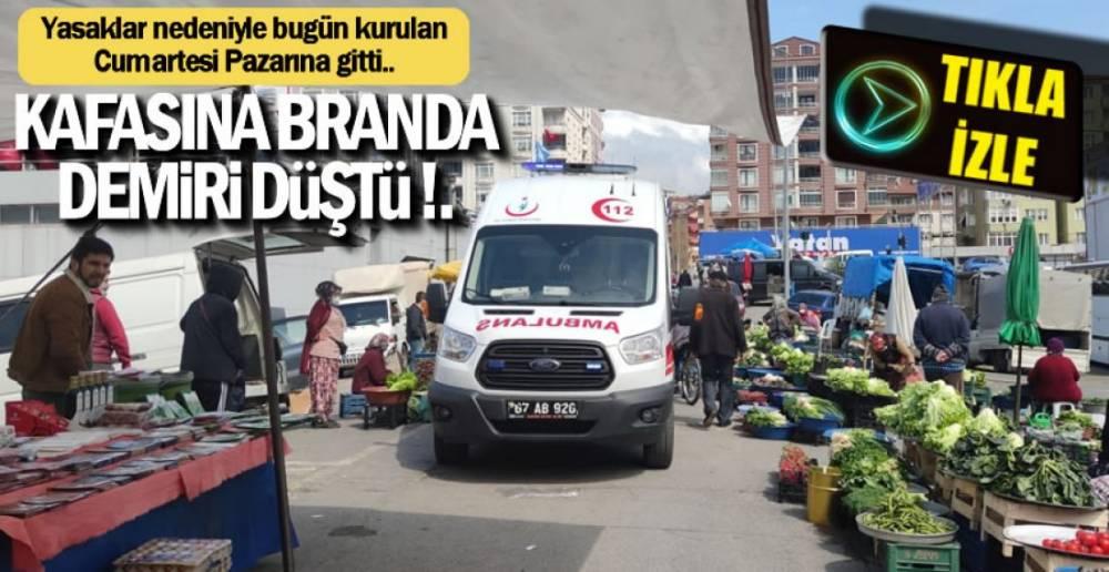 PAZAR YERİNDE KAZA !.