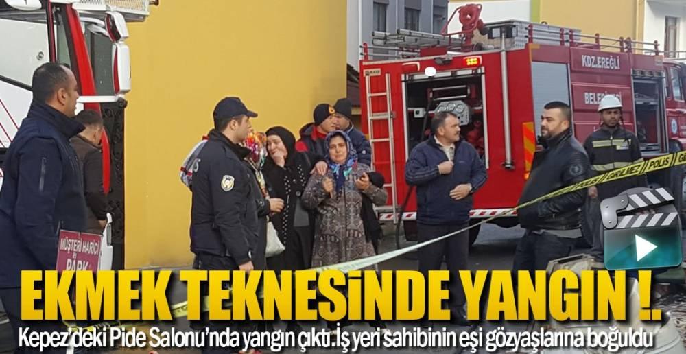 PİDE SALONU KULLANILAMAZ HALE GELDİ
