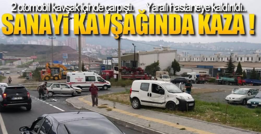 SANAYİ KAVŞAĞINDA KAZA VAR !.