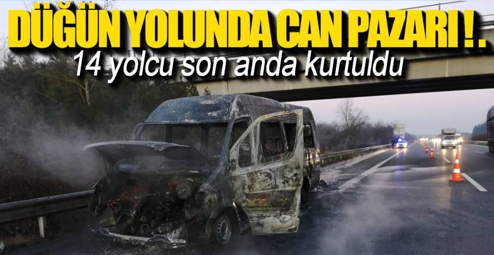 ŞOFÖR YOLCULARI SON ANDA TAHLİYE ETTİ !.