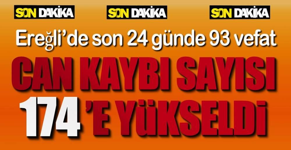 24 GÜNDE 93 CAN KAYBI  !.