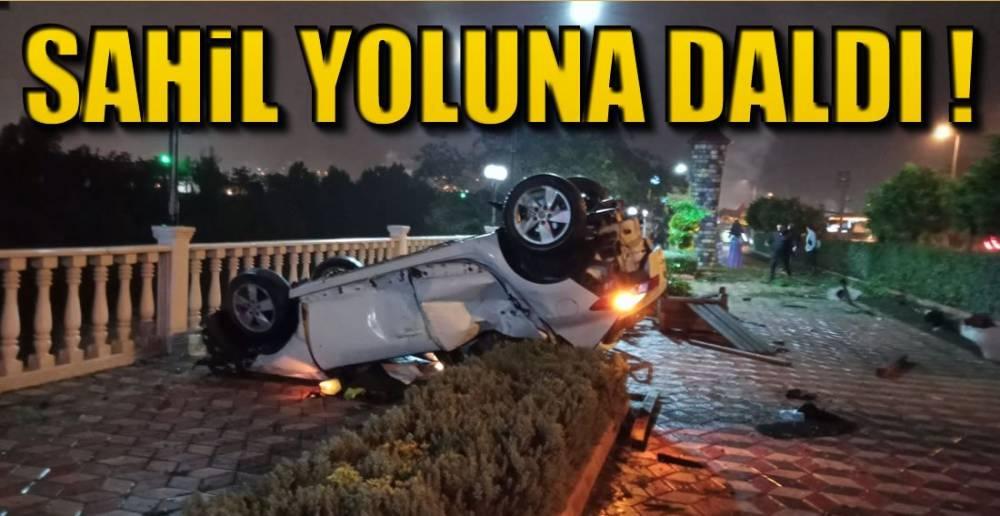 SAHİL YOLUNDA KAZA !