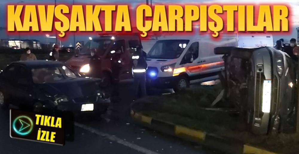 TERSANELER KAVŞAĞINDA KAZA !.