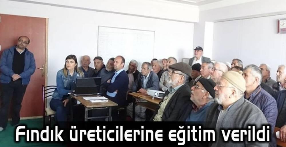 ÜRETİCİLERE FINDIK EĞİTİMİ !.