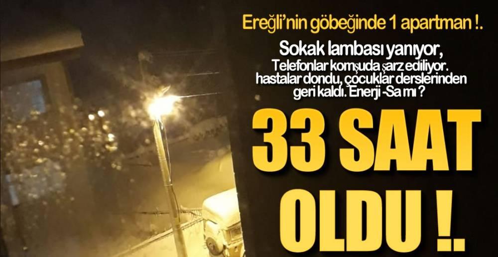 YIL 2021..ELEKTRİKSİZ 33 SAAT !.