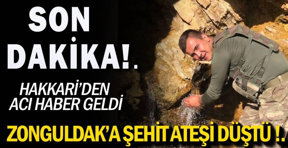 ZONGULDAK'A ŞEHİT ATEŞİ DÜŞTÜ