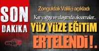 EĞİTİME KAR ENGELİ !.