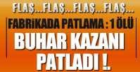 FABRİKADA PATLAMA !.