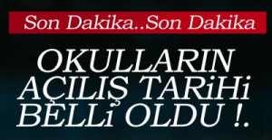 İŞTE O TARİHLER !.