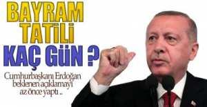 BAYRAM TATİLİ 9 GÜN !.