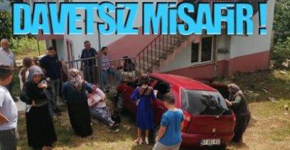BAYRAM ZİYARETİNDE KAZA !.