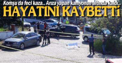 KOMŞUDA FECİ KAZA !.