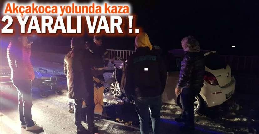 2 KİŞİ YARALANDI !.