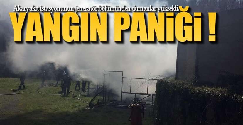 AKARYAKIT İSTASYONUNDA YANGIN PANİĞİ !.