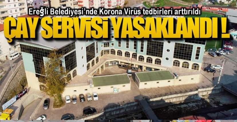 BELEDİYEDE KORONA TEDBİRLERİ !.