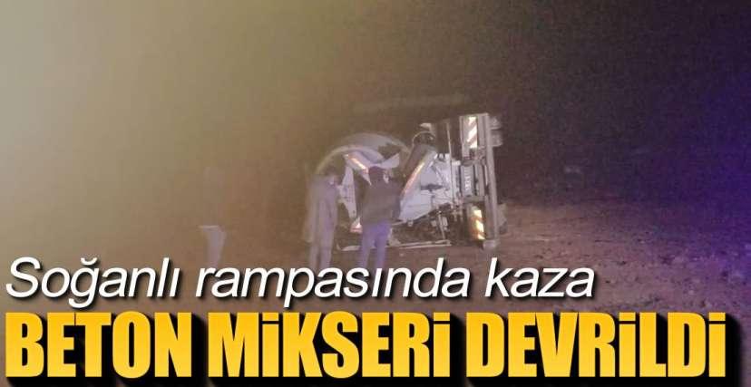 BETON MİKSERİ DEVRİLDİ !.
