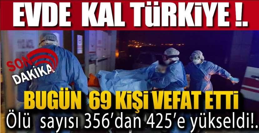 BUGÜN 69 KİŞİ HAYATINI KAYBETTİ !.