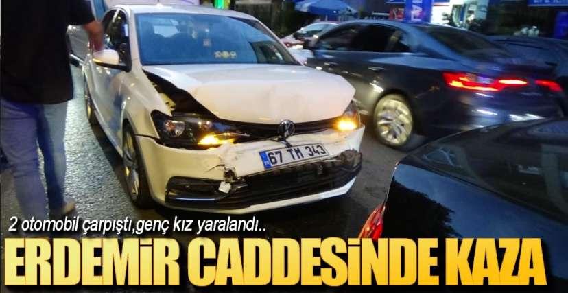 ERDEMİR CADDESİNDE KAZA !.