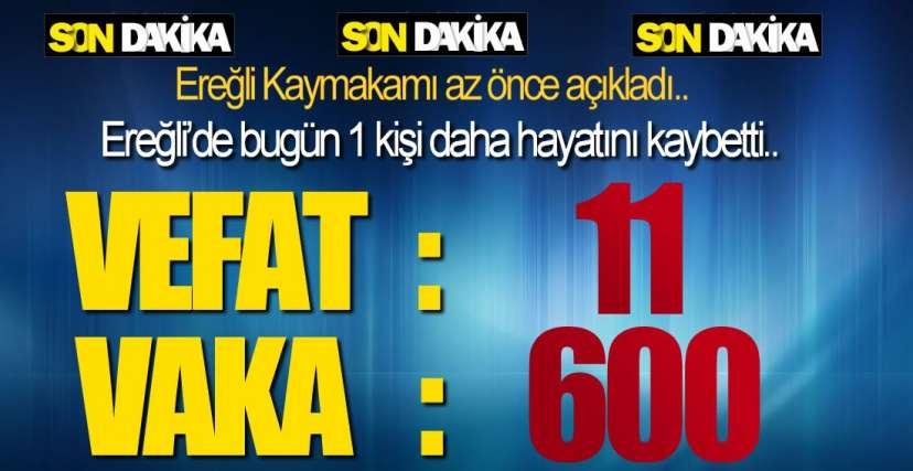 EREĞLİ'DE 1 VEFAT DAHA !.