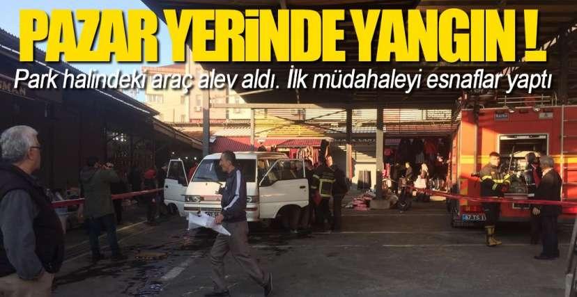 EREĞLİ'DE ARAÇ YANGINI !.