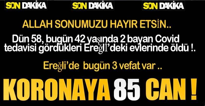 EREĞLİ'DE GELDİĞİMİZ NOKTA !.