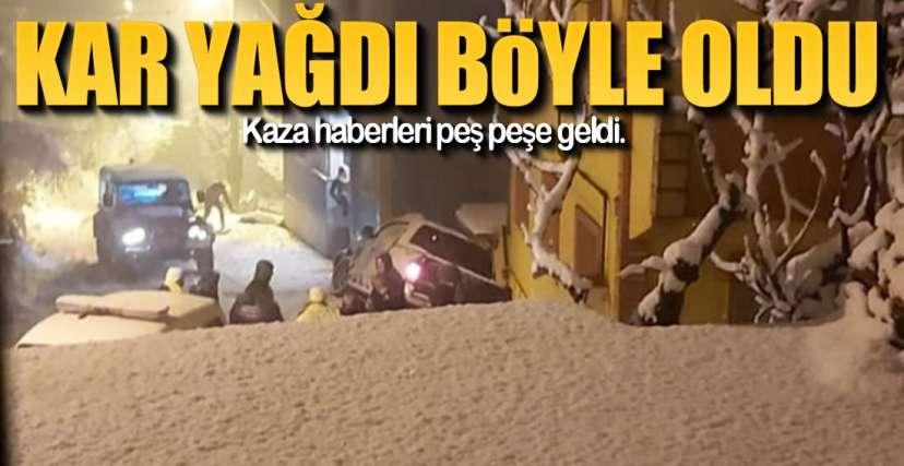 EREĞLİ'DE KAR KAZALARI !.