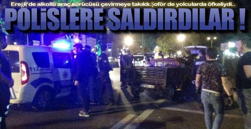 POLİSLERE SALDIRDILAR !.