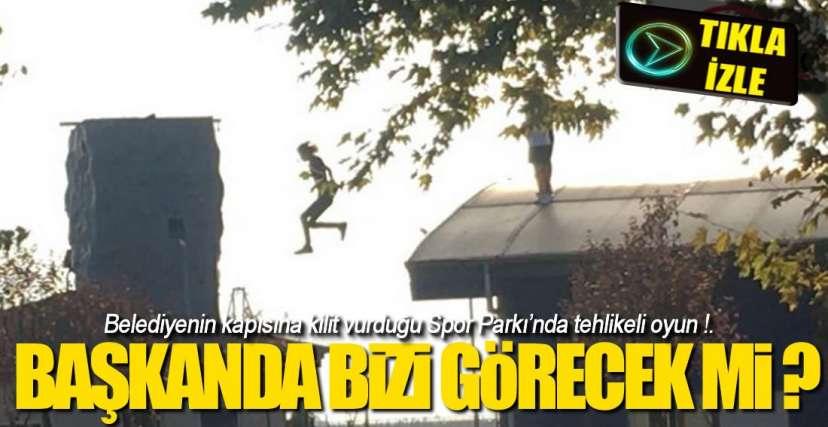 EREĞLi'DE TEHLİKELİ OYUN !.