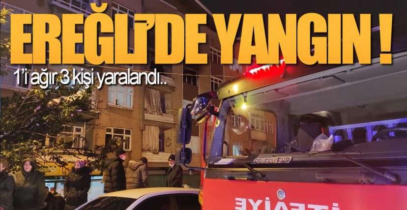 EREĞLİ'DE YANGIN !.