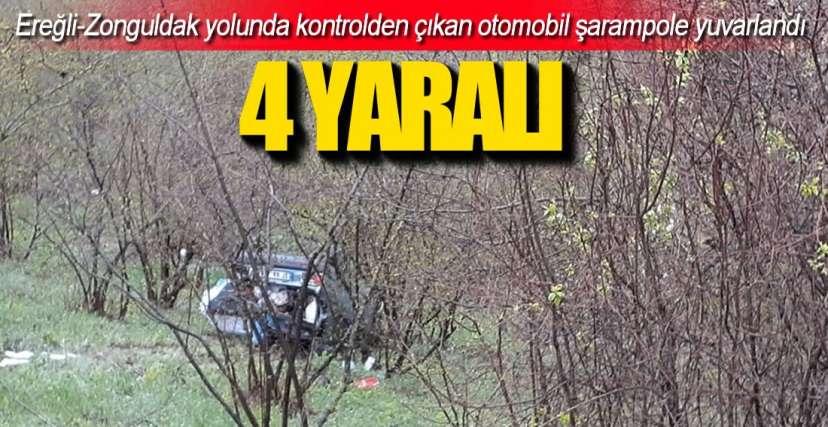 EREĞLİ-ZONGULDAK YOLUNDA KAZA!.