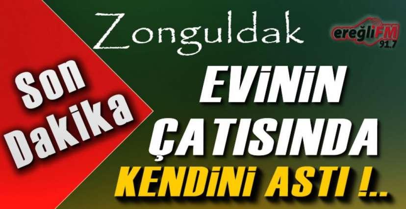 EVİNİN ÇATISINDA KENDİNİ ASTI !.