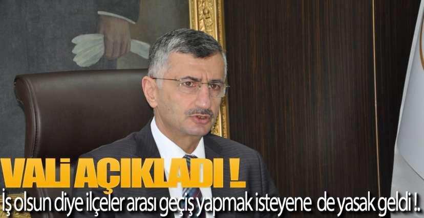 İLÇELER ARASI GEÇİŞE KONTROL ŞARTI !.